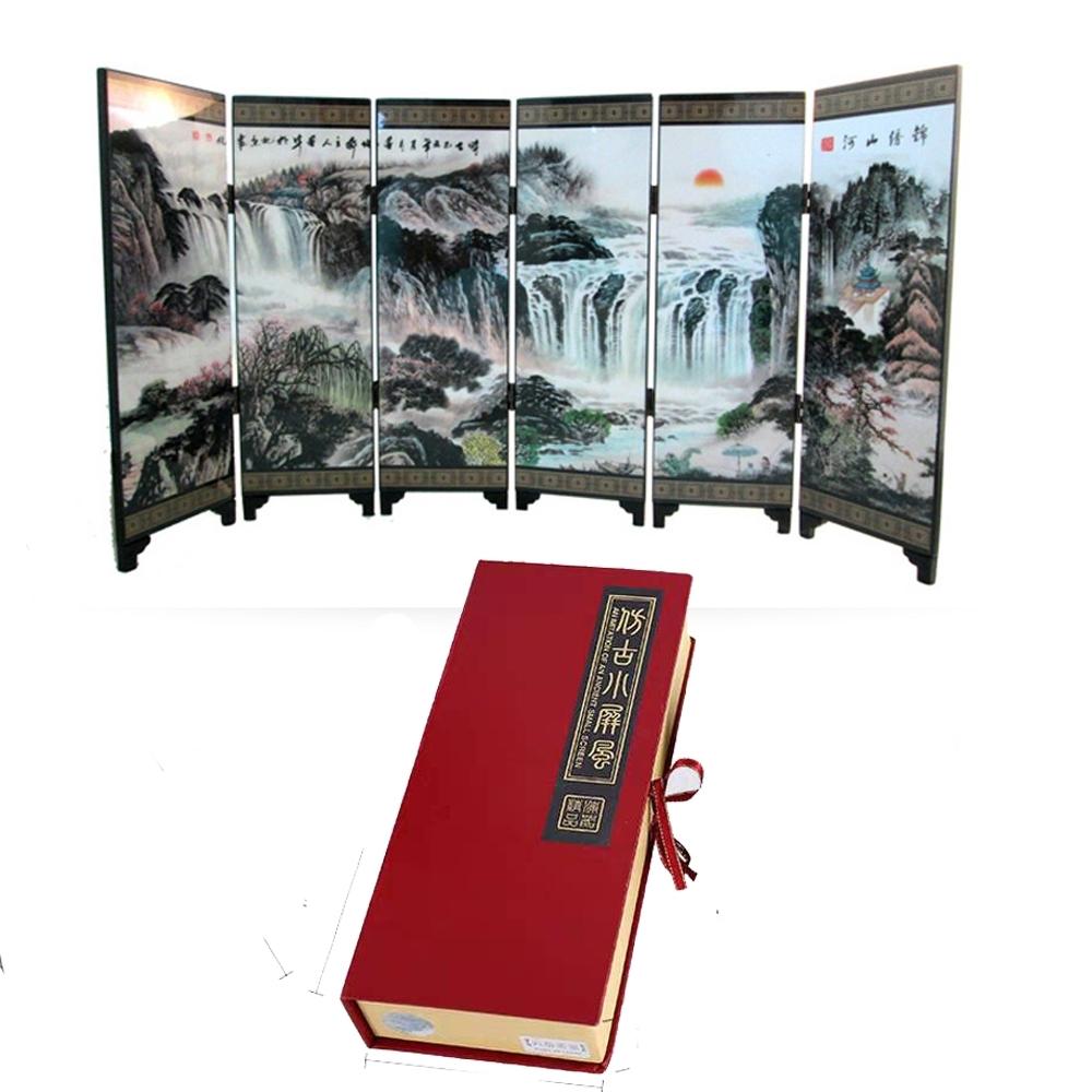 【古緣居】六片組桌上屏風擺件雙面圖(四款)