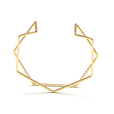 LOVER S TEMPO加拿大品牌 HEX-Y開口式 金色手環