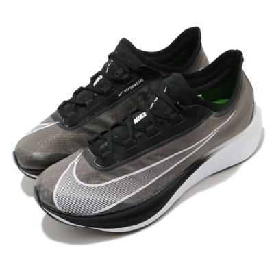Nike 慢跑鞋 Zoom Fly 3 運動 男鞋 氣墊 避震 路跑 透氣 舒適 健身 黑 白 AT8240007