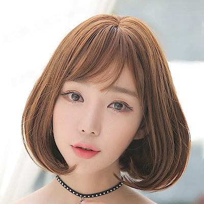 米蘭精品 短假髮整頂假髮-中分內彎梨花頭短直髮女假髮4色73rr38