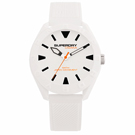 Superdry極度乾燥  街頭潮流運動矽膠腕錶-白(SYG243W)-41mm