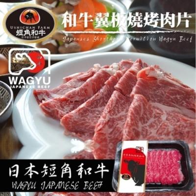 【海陸管家】日本短角和牛-嫩肩沙朗翼板燒肉片1盒(每盒約100g)