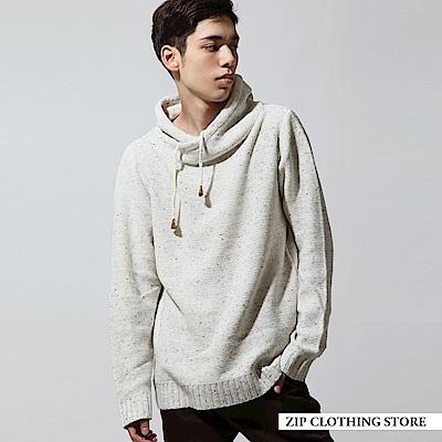 休閒鬆高領針織衫(5色) ZIP日本男裝