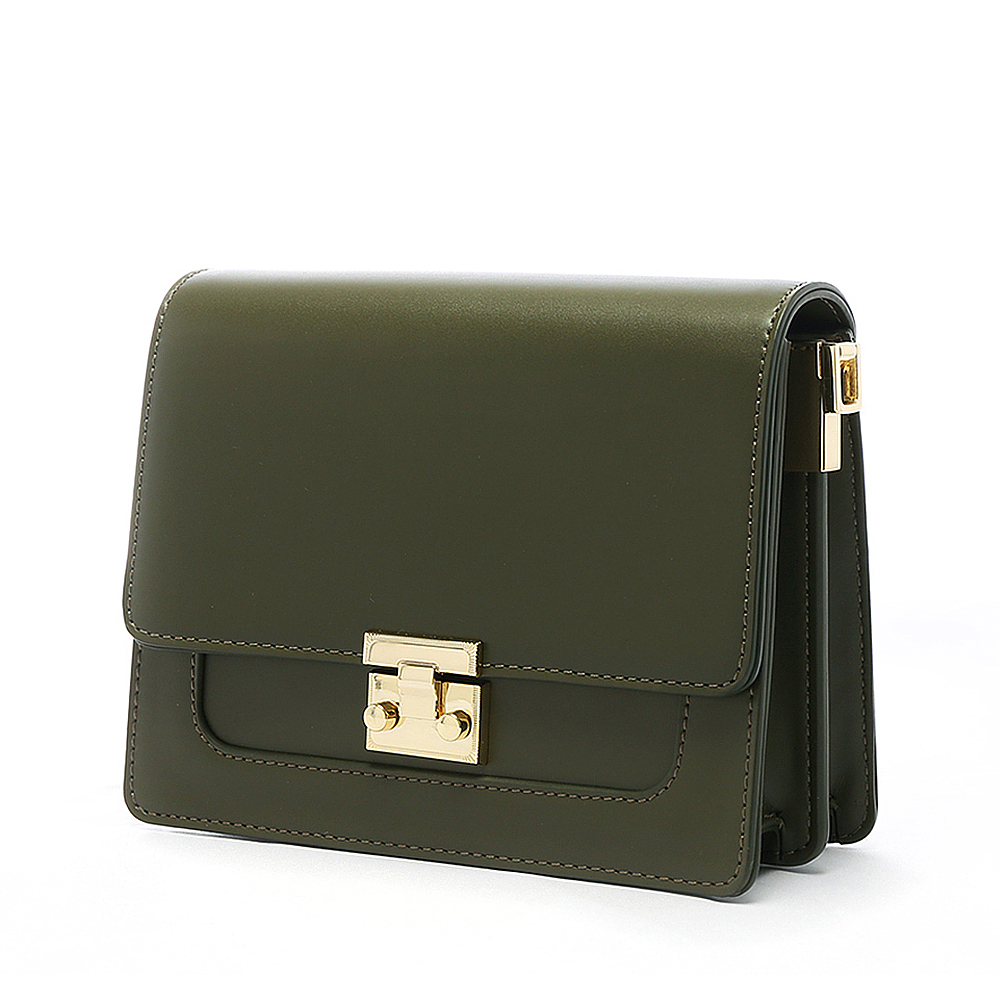 ANNA DOLLY 甜美細緻Tender夾層小方包 古典綠 @ Y!購物