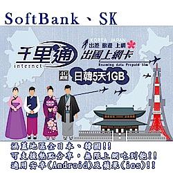 日本上網卡 韓國上網卡 5日無限上網吃到飽 上網卡