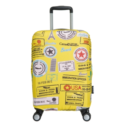 【OUTDOOR】行李箱保護套-徽章-S ODS15B06SYL