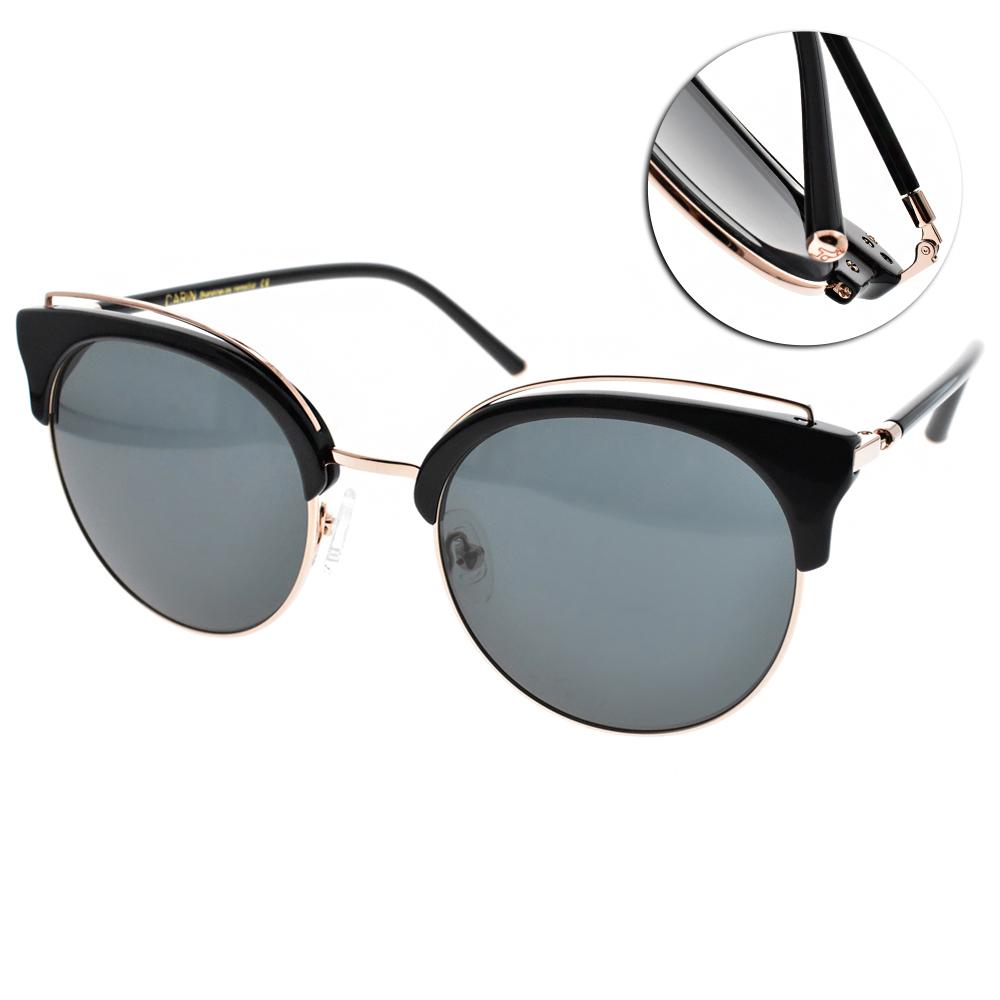 CARIN太陽眼鏡 秀智代言 貓眼眉框款/黑金 #DEBORAH C1