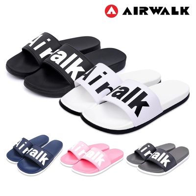 AIR WALK - 經典LOGO拖鞋 休閒拖鞋 男女皆可 防水拖鞋 海灘鞋-共5色