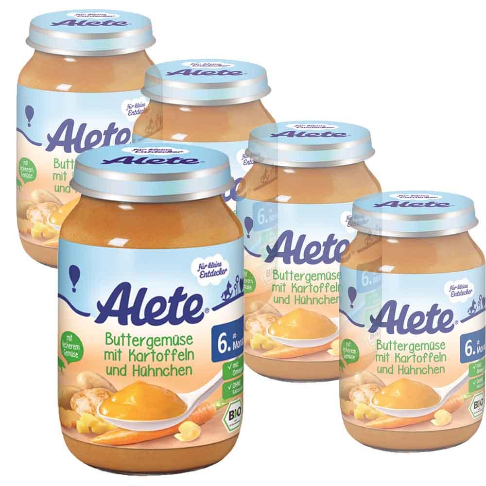 德國Alete-寶寶副食品6+ (蔬菜雞肉馬鈴薯泥) 5入組