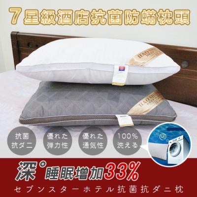 (限時下殺) DaoDi新七星級酒店抗菌防蟎枕頭二入組 四色任選