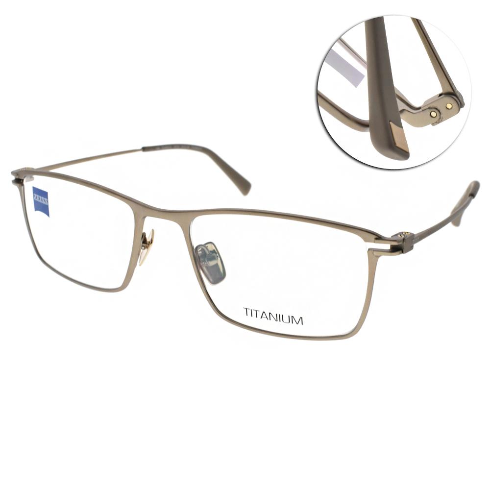 ZEISS蔡司眼鏡 休閒沉穩方框/金  #ZS85010 F010