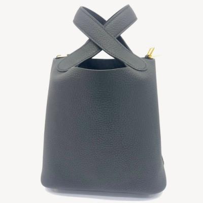 HERMES 經典Picotin Lock系列 TC牛皮手提鎖頭包(18cm黑/金)