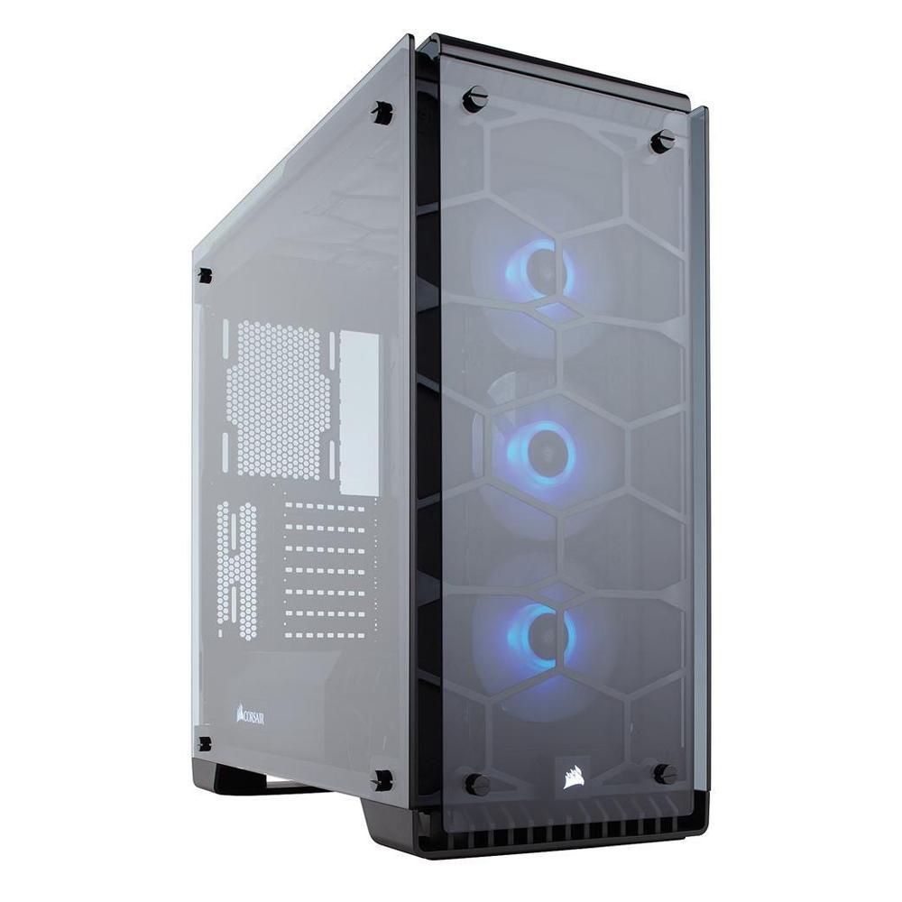 海盜船【Crystal 570X RGB】全透側 ATX電腦機殼《黑》
