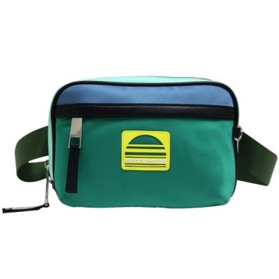 MARC JACOBS SPORT 撞色尼龍方型肩/腰包-綠/藍色