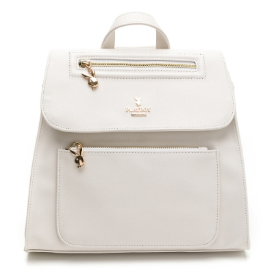 PLAYBOY- 後背包 Cozy系列-白色