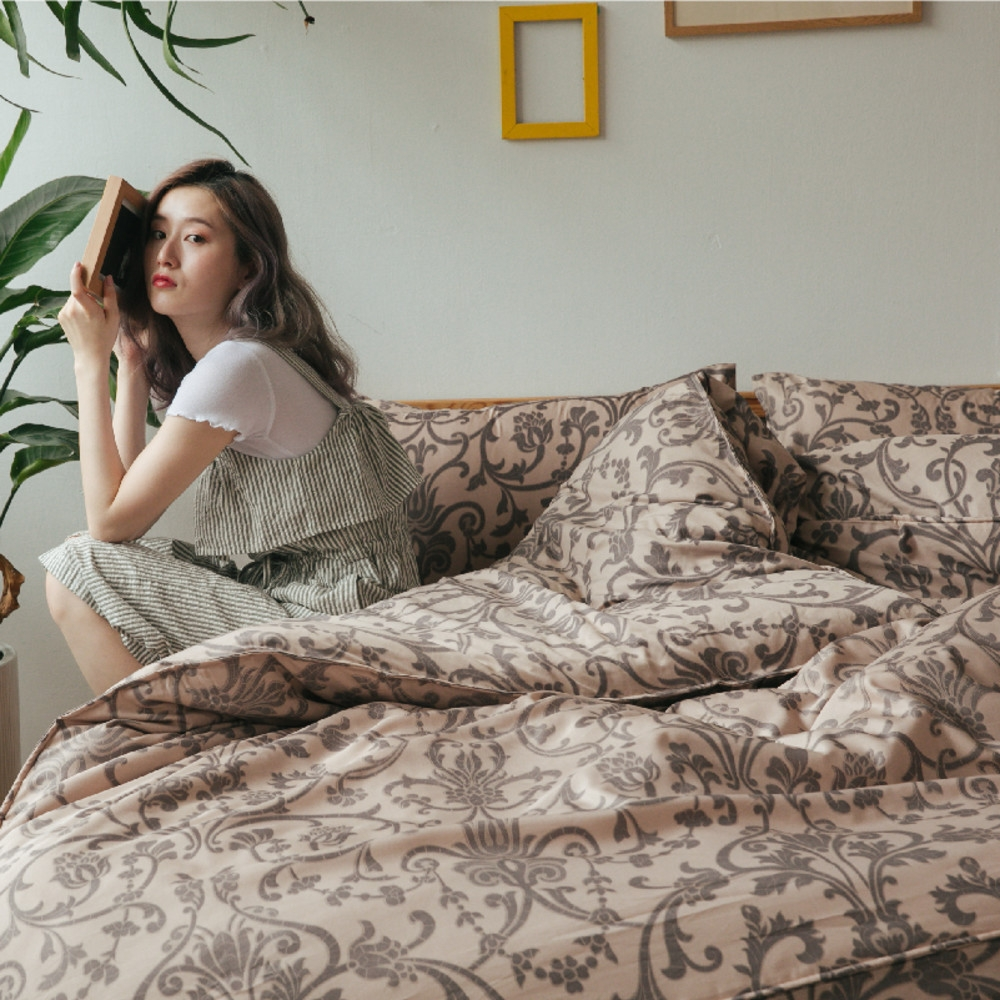 (買一送一)夢之語 3M天絲鋪棉床罩組(多款)-單/雙/大均價 (克雷泰伊)