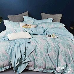 BUTTERFLY-3M專利+頂級天絲-雙人薄床包被套四件組-綠雅