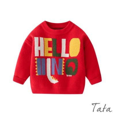 童裝 彩色字母針織上衣 TATA KIDS