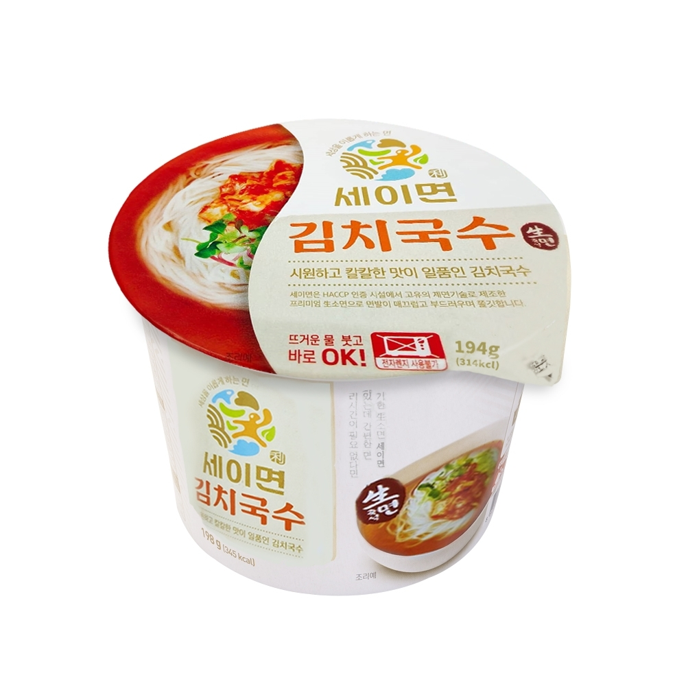 韓味不二【韓國原裝】即食(生麵)泡菜麵(194g)