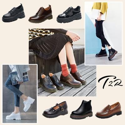 時時樂限定 [T2R] 增高短靴 皮鞋 鋸齒牛津鞋 學生鞋 瑪莉珍鞋-增高6-8公分-多任選