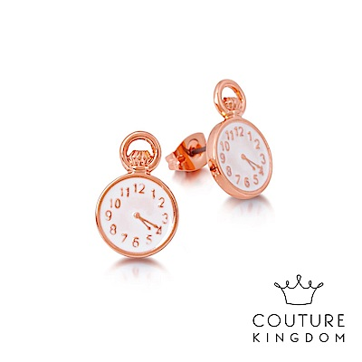 Disney Jewellery by Couture Kingdom 懷錶鍍玫瑰金耳釘