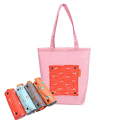 [暢貨出清] JIDA 卡通防水折疊收納手提袋(隨機出貨)