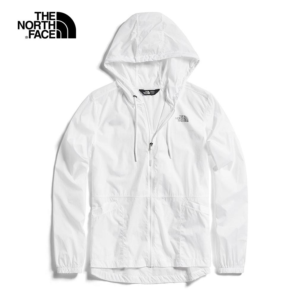 The North Face北面女款白色連帽風衣外套|3V4IFN4