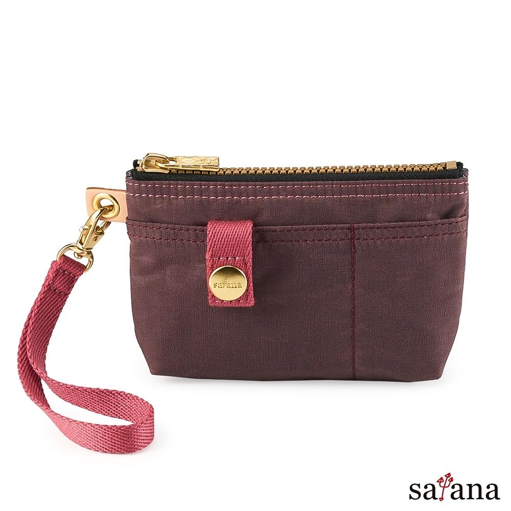 satana - Soldier 實用拉鍊化妝包/零錢包 - 小豆色