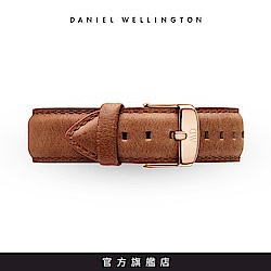 DW 錶帶 18mm金扣 淺棕真皮皮革錶帶
