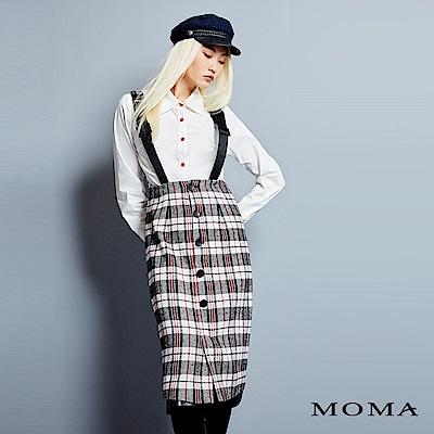 MOMA 格紋吊帶洋裝