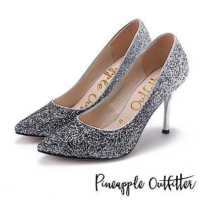 Pineapple Outfitter 璀璨名媛 漸層亮片尖頭高跟鞋-黑色