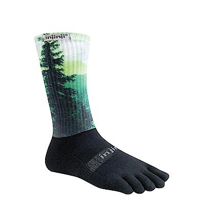 【INJINJI】TRAIL野跑避震吸排五趾中筒襪