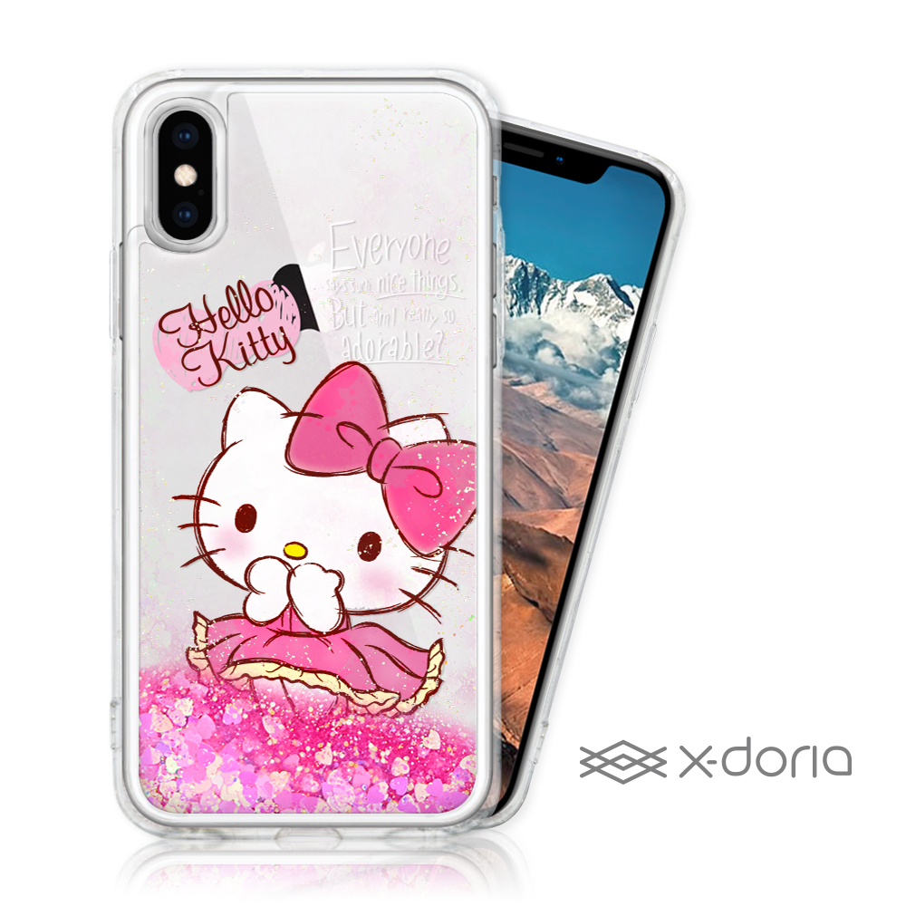 Hello Kitty iPhone Xs Max 亮片流沙手機軟殼 - 俏皮