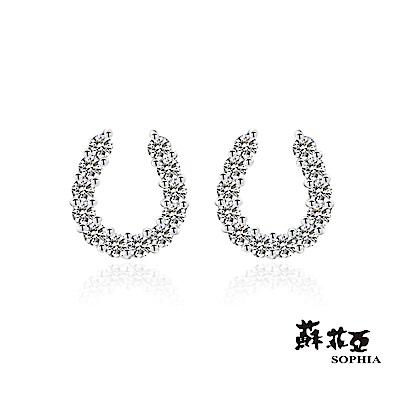 蘇菲亞SOPHIA - 輕珠寶系列馬蹄鐵0.30克拉鑽石耳環