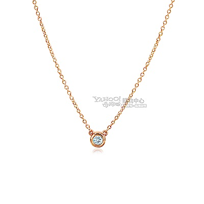 Tiffany&Co.0.07克拉鑽石18K玫瑰金項鍊