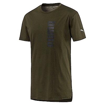 PUMA-男性訓練系列Energy圖樣短袖T恤-深林綠-歐規