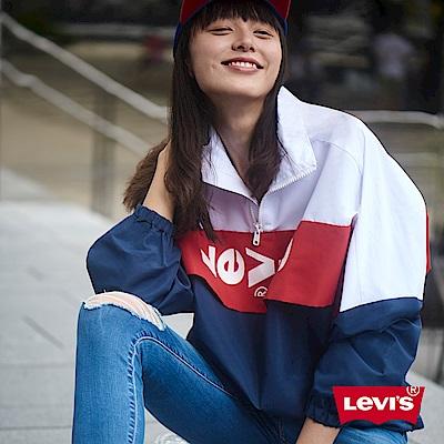 Levis 夾克外套 女裝 Oversize 寬鬆版型 套頭設計 Logo色塊拼接