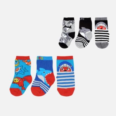 WHY AND 1/2 mini 三隻一組中長襪 多色可選