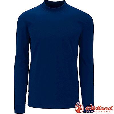 Wildland 荒野 W2652-46土耳其藍 男遠紅外線保暖中領衛生衣