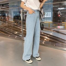 致敬時尚高腰修身挺括有型闊腿褲S-XL-WHATDAY
