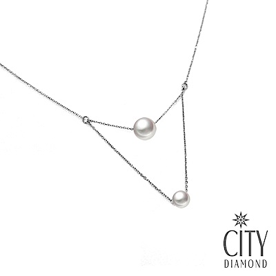 City Diamond引雅【手作設計系列 】日本AKOYA珍珠雙層項鍊/鎖骨鍊/頸鍊
