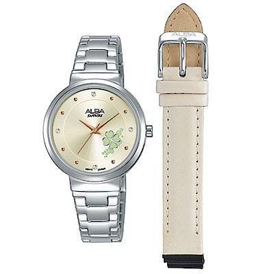 ALBA雅柏閃耀幸運時尚腕錶(AH8569X1)