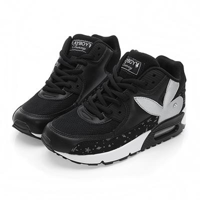 PLAYBOY悠閒步伐 耀眼星空氣墊運動鞋-黑