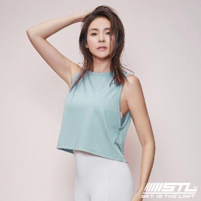 STL Yoga Fresh Crepe Perfect Tank 韓國 戶外運動機能上衣 快速排汗 無袖背心 比基尼外罩/登山/重訓/瑜珈/路跑 Tiffany藍