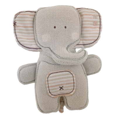英國「Natures Purest」天然純綿-針織小象玩具