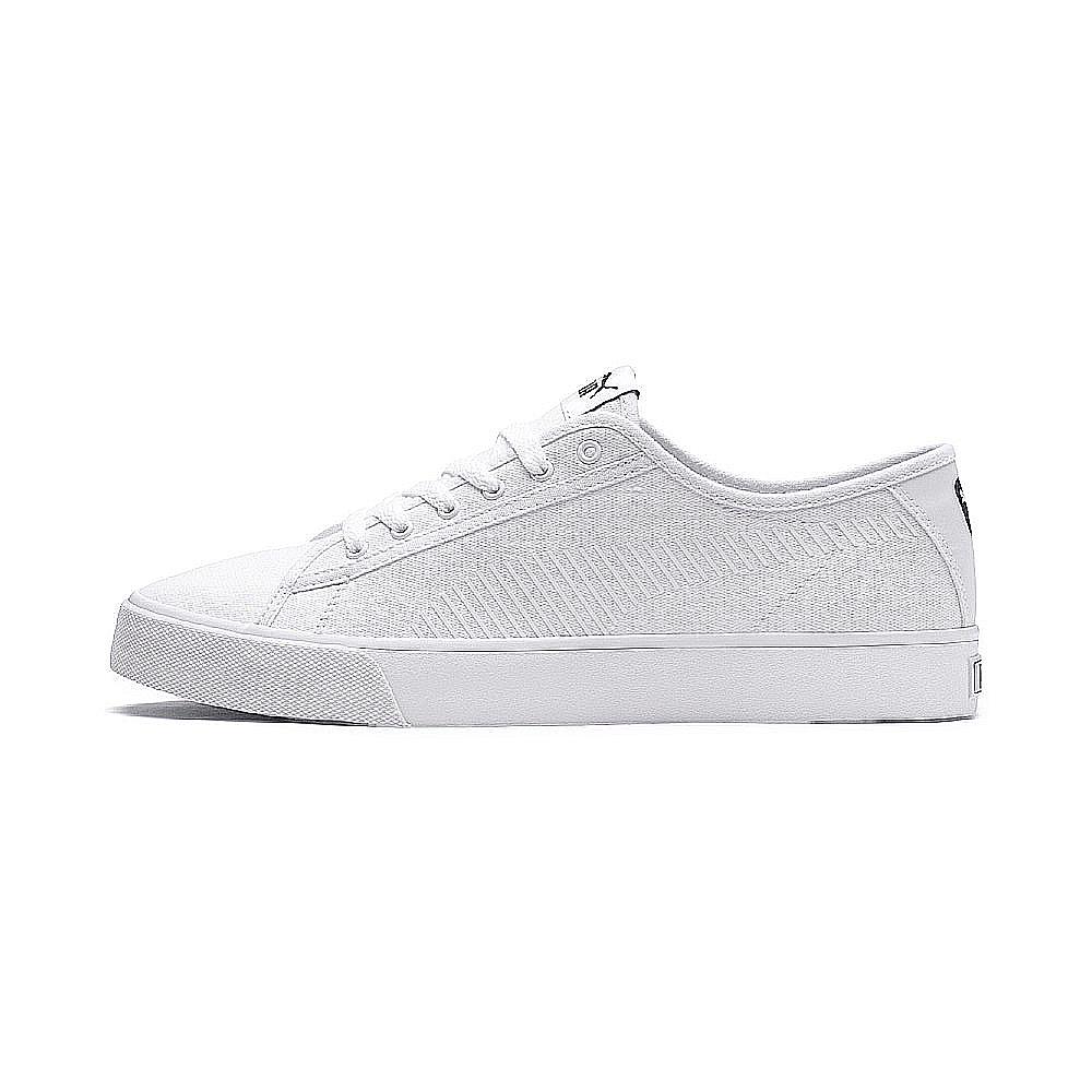 PUMA-Bari 男女復古休閒鞋-白色