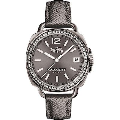 COACH Tatum 紐約星光晶鑽優雅女錶(14502628)-灰/34mm