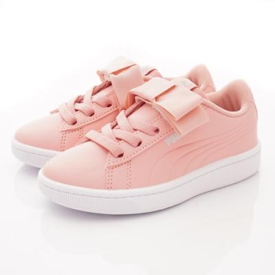 PUMA童鞋 蝴蝶結皮質運動鞋款 TH70518-03粉(中小童段)