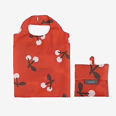 Dailylike 摺疊口袋購物袋S-04櫻桃紅