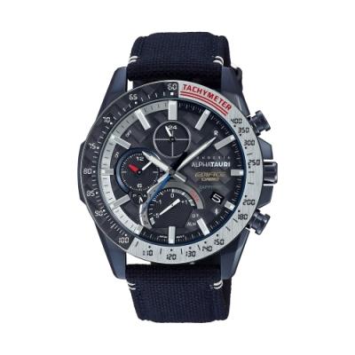 CASIO卡西歐 EDIFICE 藍牙 太陽能電力 碳纖維錶盤 賽車 聯名錶款 EQB-1000AT-1A_45.7mm